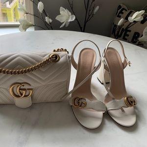 Ivory Gucci Sandal (Size 9.5)